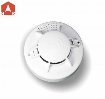 烟感探测器探测到周围环境中的烟雾浓度达到报警阈值时,led指示灯会